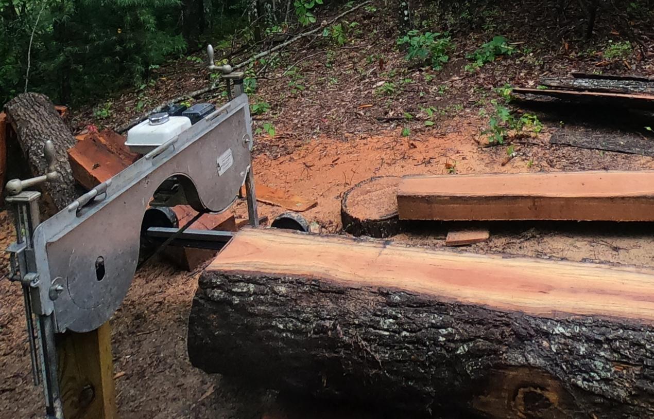 Field repairing the Lumbersmith sawmill